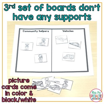Category Sorting for Language Building (Special Education & Speech Therapy)