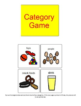Category Sorting Activity - Boardmaker
