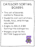 Category Sorting Boards - Autism / ABA