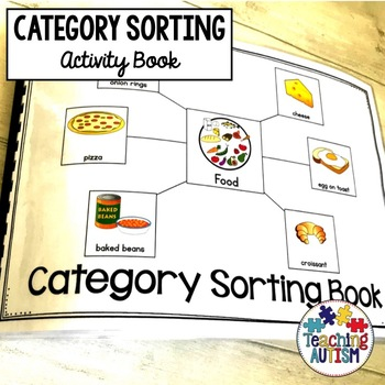 Category Sorting Book for Special Education