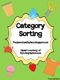 Category Sorting: Expressive/Receptive Language