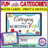 Category Sorting Fun BOOM CARD Edition NO PREP, NO PRINT -