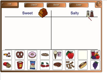 The Senses:  Category Sorting Games