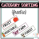 Category Sorting Label Strips FREEBIE