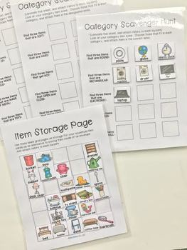 Category File Folder Activity - Household Items