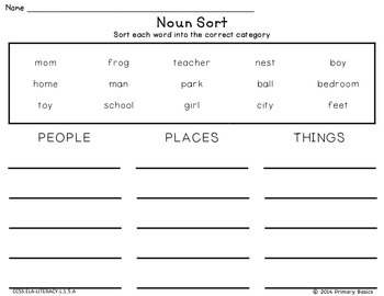 Category Word Sorts