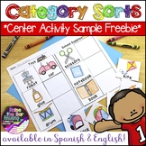 FREE Category Sorts / Concept Sorts & Phonics Center Print