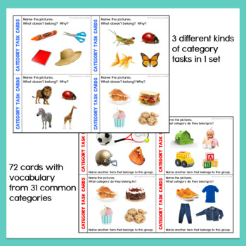 Category Task Cards