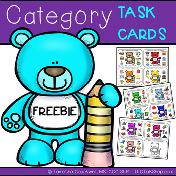 Category Task Cards FREEBIE