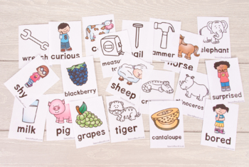 Category Vocabulary Flashcards - 100+ Page Mega Pack! 12 categories