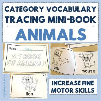 Category Vocabulary Tracing Mini-Book: Animals