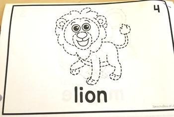 Category Vocabulary Tracing Mini-Book: Animals