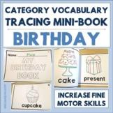 Category Vocabulary Tracing Mini-Book: Birthday