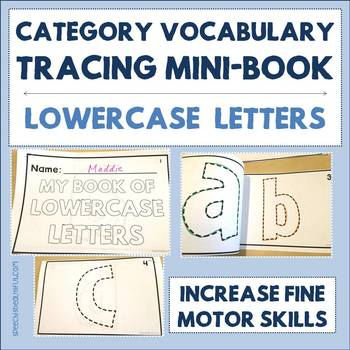 Category Vocabulary Tracing Mini-Book: Lowercase Letters