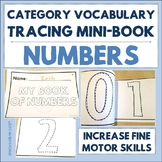 Category Vocabulary Tracing Mini-Book: Numbers