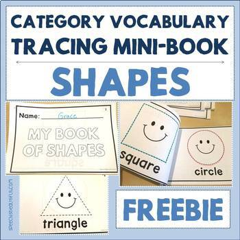 Category Vocabulary Tracing Mini-Book: Shapes - Free Sample