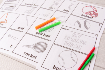 Category Vocabulary Tracing Mini-Book: Sports
