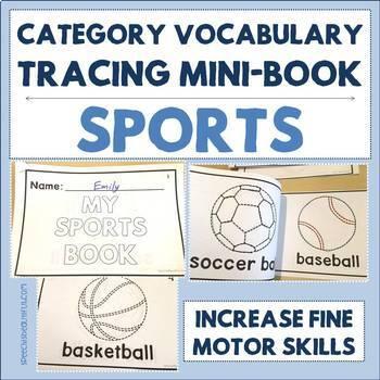 Category Vocabulary Tracing Mini-Book: Sports