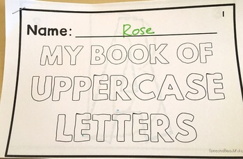 Category Vocabulary Tracing Mini-Book: Uppercase Letters
