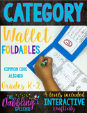 Category Wallet Craftivity Books