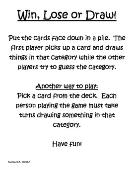 Category Win, Lose or Draw!
