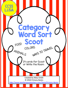 Category Word Sort Scoot