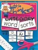 Category Word Sorts - April