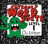 Category Word Sorts (Level 1) - October