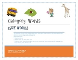Category Words {Size words}