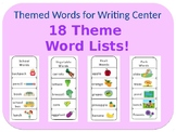 Category Words for Writing
