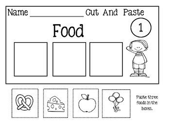 Category Worksheets - Cut And Paste
