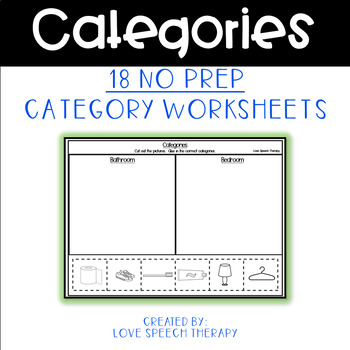 freebie category worksheet no prep cut and paste by love speech therapy. Black Bedroom Furniture Sets. Home Design Ideas