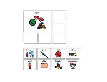 Category Worksheets/File Folder Tasks (Autism, Speech Tx, Language Delays)