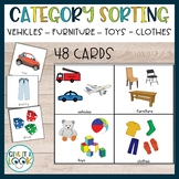 Autism activity: Category Sorting (Vehicles, Furnitures, Toys, Clothes)