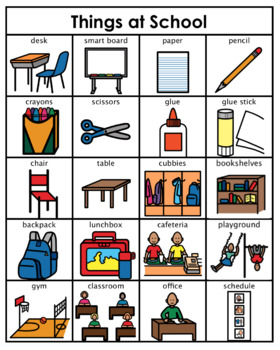 Category/Concept Boards - Things at School