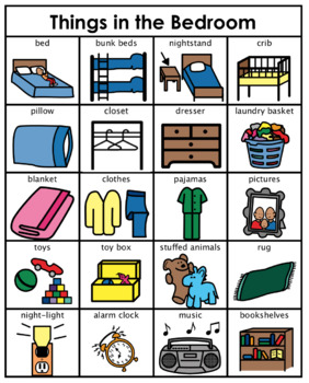 Category/Concept Boards - Things in the Bedroom