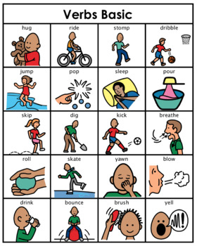 Category/Concept Boards - Verbs