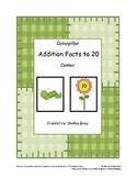 "Caterpillar ""Addition Facts to 20"" Math Center"