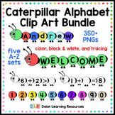 Caterpillar Alphabet Clip Art Bundle