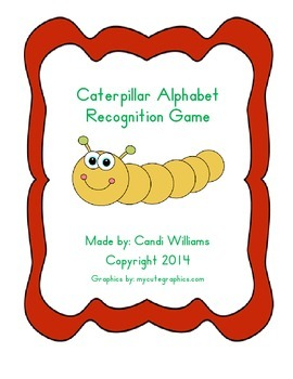 Caterpillar Alphabet Recognition Game for Kindergarten or Preschool  ABC's