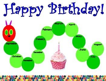Caterpillar Birthday Poster