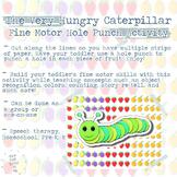 Caterpillar Bites Hole Punch Activity for Fine Motor Skills