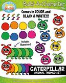 Caterpillar Build-A-Character Clipart {Zip-A-Dee-Doo-Dah Designs}