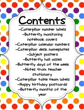 Caterpillar & Butterfly Classroom Labels & More!