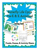 Caterpillar Butterfly Life Cycle Activities, Games, Pocket
