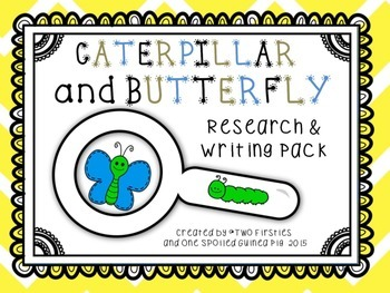 Caterpillar & Butterfly Research & Informational Writing Report Pack [CC]