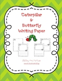 Caterpillar & Butterfly Writing Paper