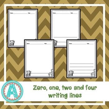 Zoo Animals Writing Paper