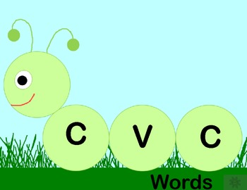 Caterpillar CVC Word Work Center