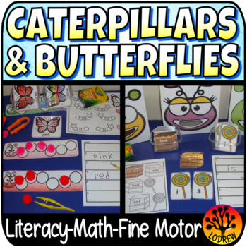 Bug Centers Caterpillar Centers Spring Activities Insects Literacy Math
